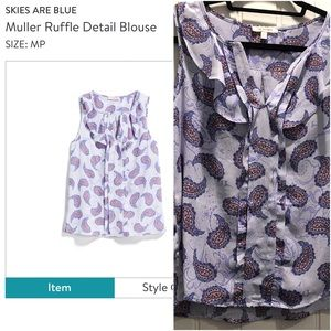 Skies Are Blue Muller Ruffle Blouse MP
